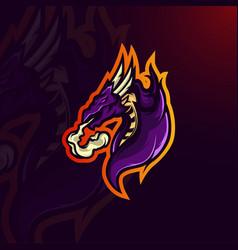 dragon logo vector image
