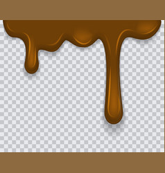 dripping melted chocolates isoalted realistic 3d vector image