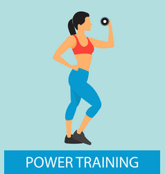 fitness power training flat vector image