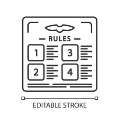 Flight rules linear icon vector