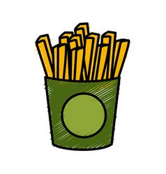 French fries food vector