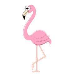 funny cartoon flamingo vector image
