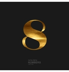 Golden number 8 vector image