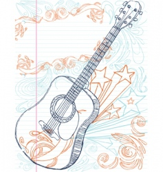 Guitar with text area vector