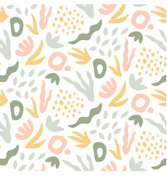 hand drawn seamless pattern trendy print vector image