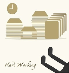 Hard Working vector