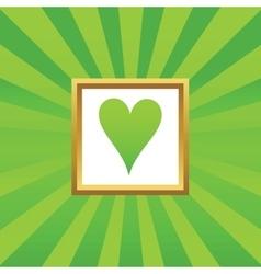 Hearts picture icon vector
