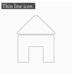 Home open door icon Style thin line vector image