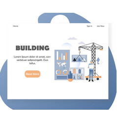 house building website landing page design vector image