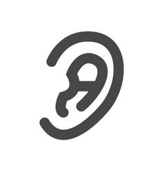 human ear icon simple car sign vector image