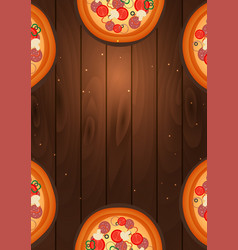 Italian pizza poster fast food flat vector