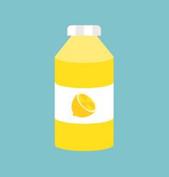 lemonade bottle flat design icon vector image