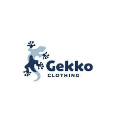 Logo gecko mascot style vector