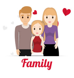 Lovely family poster together vector