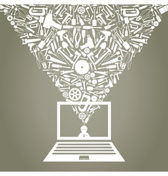 Mechanical Laptop vector image