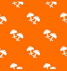 Modern earrings pattern orange vector