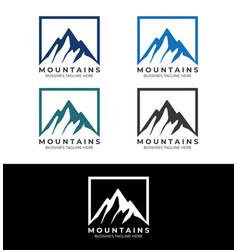 Mountains logo template image vector