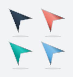 navigation colored arrows set vector image