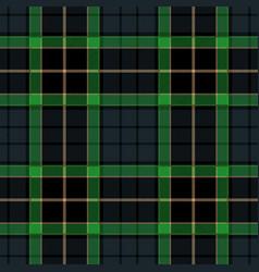 navy blue tartan plaid seamless pattern vector image