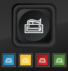 Newspaper icon symbol Set of five colorful stylish vector image