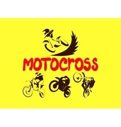 Off road Motorcycles set vector