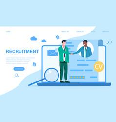 Online recruitment concept vector