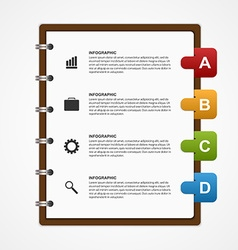 Paper Notebook for Education or Business vector image
