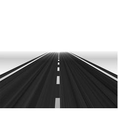 Perspective road towards horizon vector