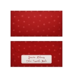 Realistic Christmas Letter to Santa Claus vector image
