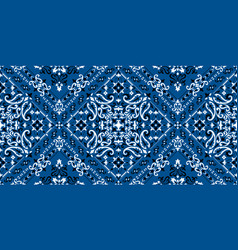 Rectangular seamless bandana print design vector