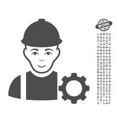 Repairman Icon With Bonus vector