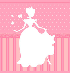 retro pink background with little beautiful vector image
