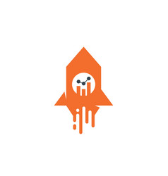 rocket launch stats statistic logo icon vector image