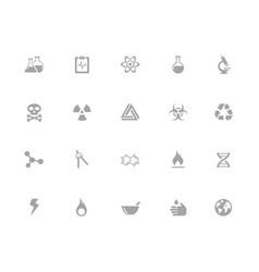 science icons 32 pixels icons white series vector image
