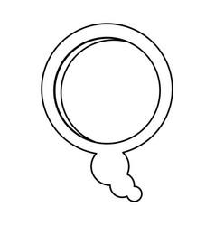 Silhouette relief bubble dialog box design vector