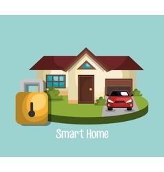 Smart home design vector