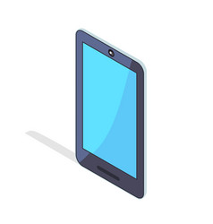 smartphone portable cellphone in isometric design vector image