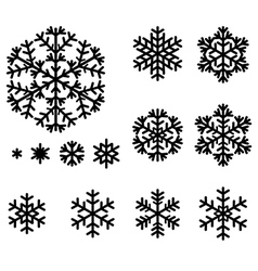 Snow set vector