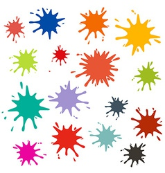 Splashes Set vector
