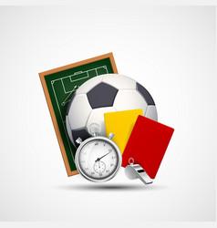 sports icon soccer ball vector image