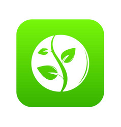 sprout icon green vector image