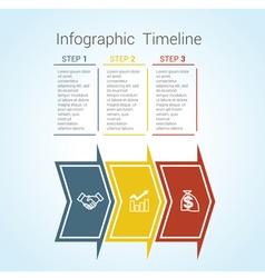 Timeline arrows 3 vector