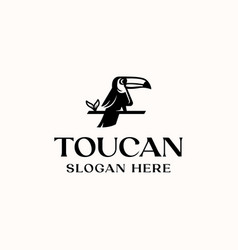 toucan bird logo template in isolated white vector image