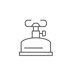 tourist burner line outline icon vector image