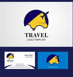 travel tokelau flag logo and visiting card design vector image