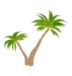 Two palm trees icon cartoon style vector