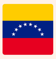 Venezuela square flag button social media vector