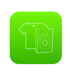 washing powder for colored things icon green vector image