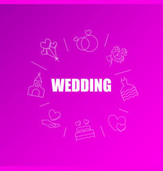 wedding background from line icon vector image
