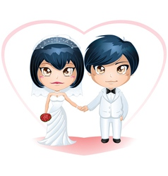 Bride And Groom Getting Married 3 vector image